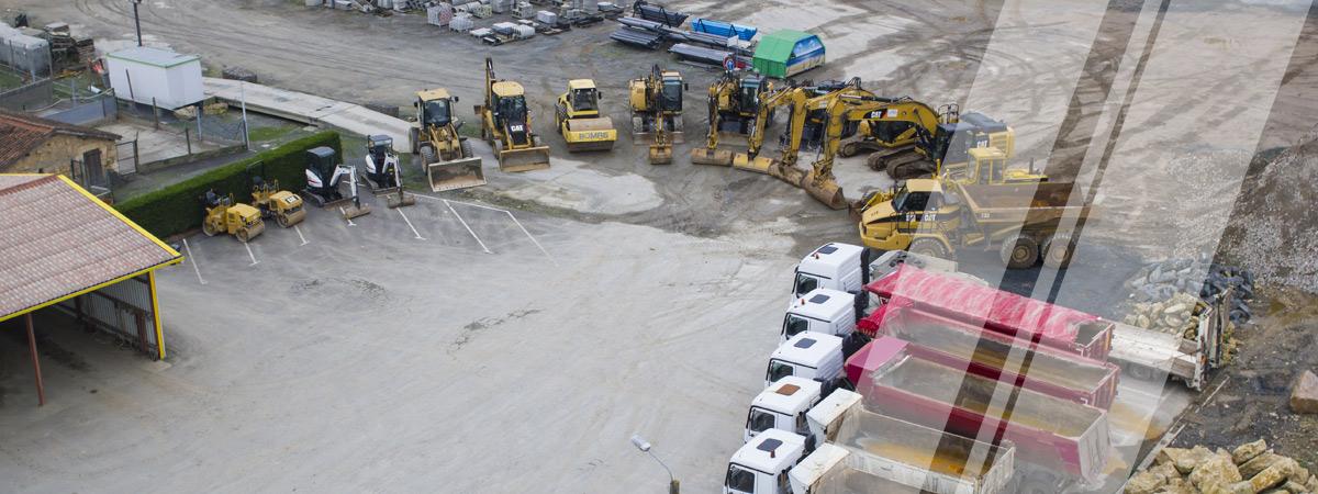 Un parc machine adapté à tous vos chantiers de terrassement